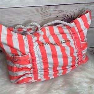 Victoria Secret Large Florescent Beach Bag Tote